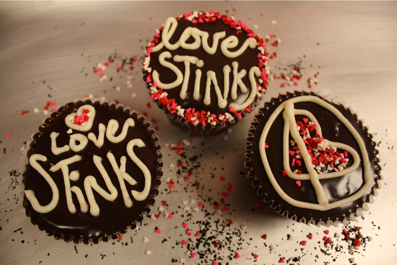 anti valentine's day cake ideas
