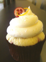 Orange Cranberry Cupcake by Cupcake Chic photo via Cupcake Chic