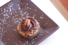 Gluten Free Turtle Tart at The Chocolate Dessert Cafe in Orem, Utah ( Utah Bakery Gluten Free)